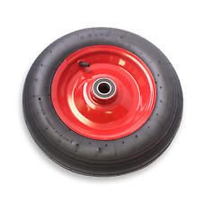 "14"" Wheel 3.50-8 Pneumatic Sack Trolley Wheelbarrow 25mm Axle Bore Steel Rim"