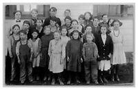 Class School Picture Overalls Dresses RPPC Real Photo Postcard 1904-20's
