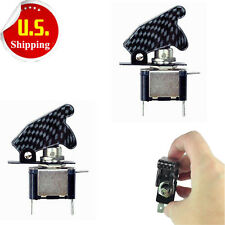 2x Blue LED Carbon Fiber Toggle Switch Control 12V For Car Truck Motor SPST HS