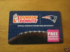 Dunkin Donuts Coffee New England Patriots Logo Gift Card