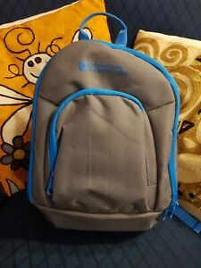 Mountain Warehouse Piccolo Small Rucksack Backpack 10L grey with blue trim. BNWT