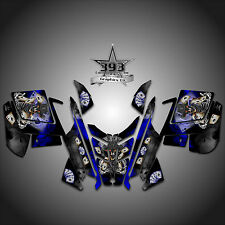 2010 - 2015 POLARIS PRO RMK - RUSH Decal Sticker Wrap Graphics Outlaw Blue