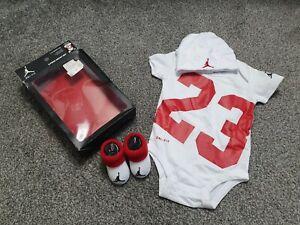 Baby boy Jordan 3 Piece Set Dri Fit Vest Bootie Set 0-3 Months 3-6 Months BNWT ❤