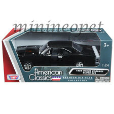 MOTORMAX 73315 1969 69 DODGE CORONET SUPER BEE 1/24 DIECAST MODEL CAR BLACK