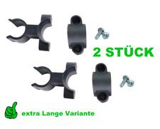 2x Stockhalter Gehstock Klemme Halter Rollstuhl Rollator Unterarmstützenhalter