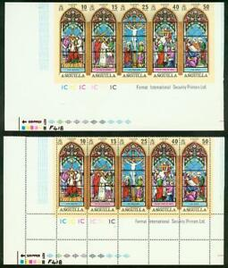 Anguilla 1972 Easter Stained set proof strip of five-2