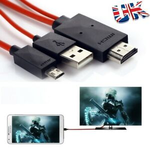 MHL Micro USB to HDMI 1080P HD TV Cable Adapter For Android Phones Samsung 2m