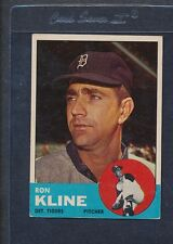 1963 Topps #084 Ron Kline Tigers VG *99