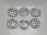 200 Silver Flatback Resin Dotted Rhinestone Round Cabochons 12mm