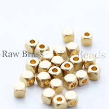 40 Pieces Raw Brass Cute Square Spacer  - 4mm (1702C)