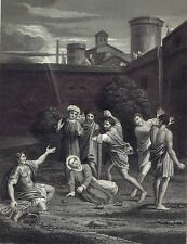 The Stoning of Saint Stephen (Domenichino) -National Gallery 1836 Print
