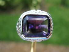 4.20ct FLAWLESS HUGE AMETHYST RING!! ESTATE COCKTAIL RING