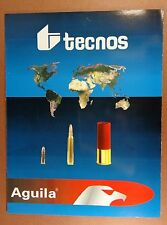 1990s AGUILA TECNOS AMMUNITION BROCHURE 22 RIMFIRE SHOTGUN RIFLE ENGLISH/SPANISH