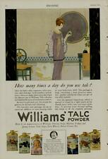 1920 WILLIAMS' TALC POWDER AD / HOW MANY TIMES A DAY DO YOU USE TALC?