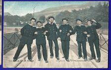 CPA  COLORISEE 2686 La vie du marin Joyeux permissionnaires L.V et Cie déb XXème