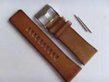 DIESEL Original Ersatzband Lederarmband DZ7374 Uhrband braun 27 mm watch strap