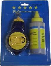 OLP Chalk Line Reel 30m 100PD Blue Heavy Duty Plastica Fast REWIND Reel nuovo