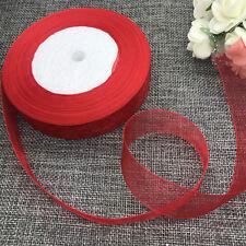 5 yards 2inch 50mm width Satin Edge Sheer Organza Ribbon Hair Bow Craft red