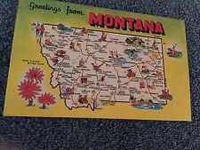 Greetings from Montana Map Postcard ID#367