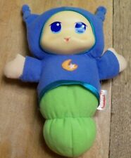 Hasbro Playskool 2009 Lullaby Gloworm Glow Worm Blue ~ Lights Up & Plays Music