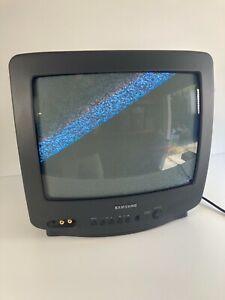 "Vintage 1998 Samsung 13"" Model TXE1386 Color TV Retro Gaming Monitor Tested"