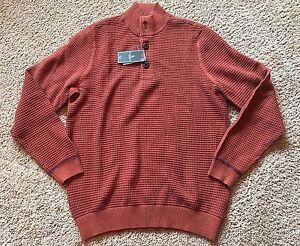 Men's Rust Brown Long Sleeve G.H. Bass Sweater Medium