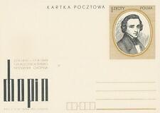Poland prepaid postcard (Cp 621) music CHOPIN