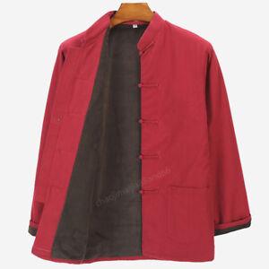 Warm Kung Fu Tai chi WushuBruce Lee Tang suit Uniforms Jacket Coat Costume Men's