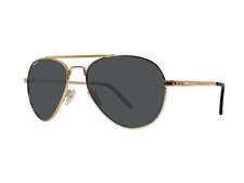 NEW Revert Srl Polar 738-02 Aviator Gold Frame Sunglasses with Case