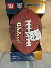 WILSON NFL JIM MORA JR  AUTOGRAPHED AUTHENTIC OFFICIAL FOOTBALL THE DUKE NWT