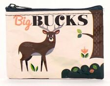 "Blue Q ""Big Bucks"" Coin Purse 95% Recycled Material Zipper"