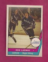 RARE 1977-78 OPC WHA # 48 AEROS DON LARWAY ROOKIE NRMT-MT CARD  (INV #3644)
