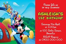 Personalised Mickey Mouse Clubhouse Party Invitation - YOU PRINT AND SAVE