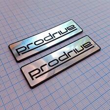 ProDrive - two emblems - Metallic - Aluminum Badge Stickers: 70 mm x 20 mm
