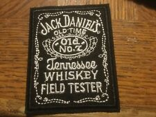 "Jack Daniels Field Tester Embroidered Iron On Applique 3"" x 2.5"""