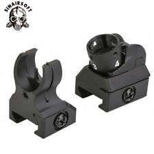 Tactical Low Profile Front and Rear Iron Sight Set Picatinny Diopter Metal Scope