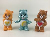 Care Bears Deluxe PVC Figure Topper Set 3pc Lot Friend Wish Tenderheart TCFC