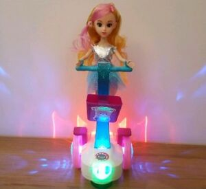 SEG WAY HOVERBOARD SCOOTER GIRLS DOLL TOY LED LIGHTS MUSIC BALANCE CAR PINK TOYS