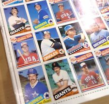 MARK McGWIRE rookie card  LOT of 20 UNCUT 132 TOPPS card SHEETS  1985 RARE