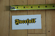 New Facefull Magazine Yellow on Black Sticker Decal for paintball airsoft
