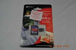 Wphoto Micro SDHC 16GB High Performance Memory Card w/SD Adapter 48MB/s