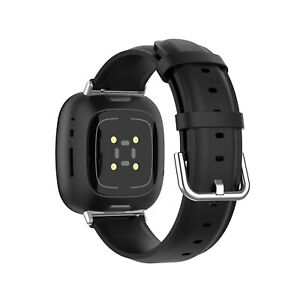 Replacement Leather Strap Band Bracelet For Fitbit Versa 3/ Sense W/ Metal Clasp