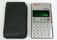 alter SHARP Elsi Mate EL-2100 Taschenrechner Braun-silber mit Hülle Calculator