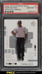2002 SP Authentic Golf Extra Limited Tiger Woods /25 #1 PSA 10 GEM MINT