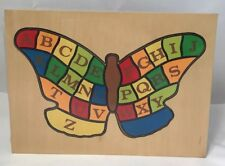 New ABC Wooden Butterfly Alphabet Educational Learning Child Puzzle 28 Pcs