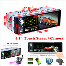 4.1'' 1 Din Car Radio RDS FM Touch Screen Bluetooth Stereo MP5 Head Unit+Camera