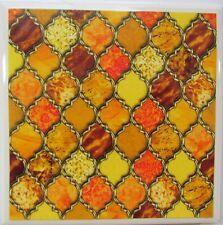 New listing Set of 4 - Handmade Natural Stone Ceramic Tile Drink Coasters - Windows 3 - C