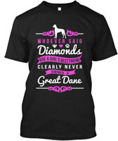 Great Dane Is A Girls Best Friend - Whoever Said Hanes Tagless Tee T-Shirt