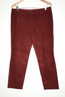 Dolce&Gabbana Vintage Designer Corduroy Pants Woman's Burgundy Trousers W34 L28