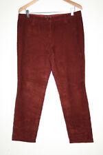 DOLCE & GABBANA Vintage Designer Velours Côtelé Pantalon femme bordeaux PANTALON W34 L28